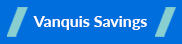 Vanquis Bank Savings